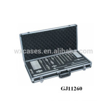 strong black aluminum tool case with custom foam insert inside