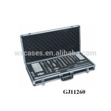сильный Черный алюминиевый корпус инструмента с вставка пользовательских пены внутри