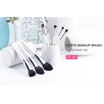 flauschige tragbare weiße Reise Make-up Pinsel Kit