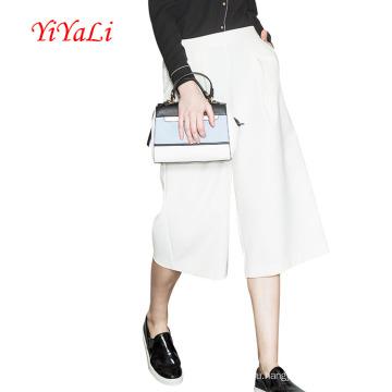 Женщины мода случайных брюки Капри