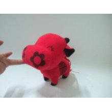 juguete de la vaca de la flor, juguete del animal del peluche, juguete del buey de la felpa