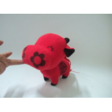 flower cow toy,stuffed animal baby toy,plush ox toy