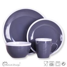 Bicolor Ceramic Special Crokery Dinner Set