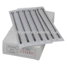 7-Round Shader TEXTURED Premade Sterilized Tattoo Needle on Bar