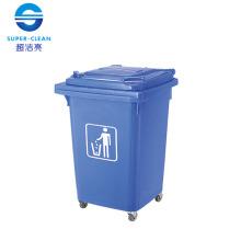 60L Vierrad beweglicher Plastikabfalleimer
