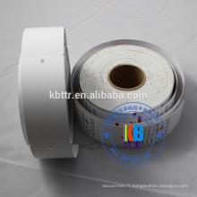 Double face imprimée étiquettes de vêtement de chaîne blanche vierge