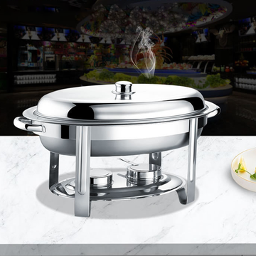 Oval Chafing Dish aus Edelstahl