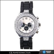 Caixa de relógio de diamante sintético, relógio de quartzo resistente à água