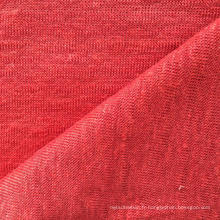 Tissu en lin tricoté en lin pour t-shirt