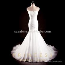 2017 chiffon sereia casamento vestido com fotos reais