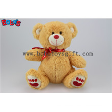 """5.1"""" Small Size Brown I Love You Stuffed Bear Animal with Red Heart Pillow Bos1110"""