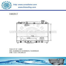 Aluminum Radiator For TOYOTA CAMRY 07-07 164000H210/164000H291/164000H220 Manufacturer and Direct Sale