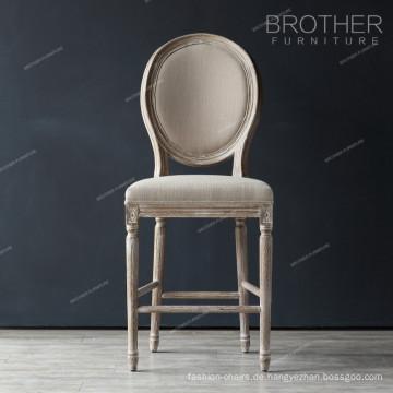 Runder barocker Stuhl aus französischem Stoff