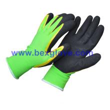 15gauge Nylon/Spandex Liner, Nitrile Coating, Micro-Foam Safety Gloves