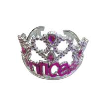 Accessoires de mode en cristal véritable ronds Couronne Tiara