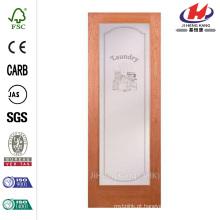 30 polegadas x 80 polegadas Lavanderia lisa 1 Lite primado MDF porta interior laje