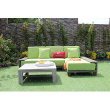 El diseño asombroso Poly resina Rattan sofá modular con lounger para el jardín al aire libre o muebles de sala de estar de mimbre