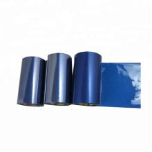 Ruban de transfert thermique de résine de couleur bleue compatible 110 * 300 Imprimante industrielle de code à barres zebra 110 ruban d'imprimante xi4