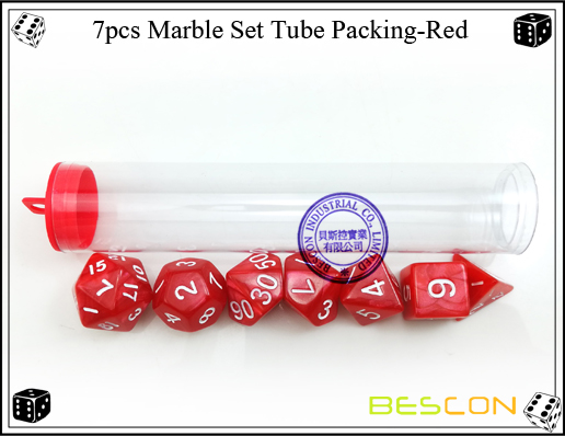 7pcs Marble Set Tube Packing-Red3