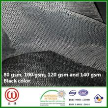 Woven Interlining Medium Gebürstet 90cm breit Schwarz
