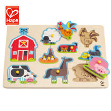 E1402 Educational Water based paint wooden 3d jigsaw puzzle animal