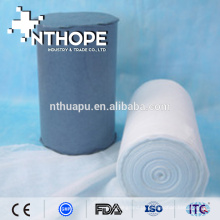 Rolo de gaze hidrofílico absorvente de algodão médico Rolo de gaze hidrófilo absorvente de algodão médico