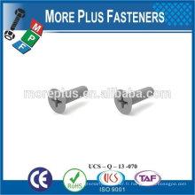 Fabriqué à Taiwan White Color Flat Head Phil Drive Nylon Screws