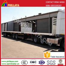 Deck duplo Link Super carga recipiente transporte Semireboque