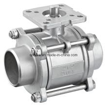 ISO5211 Montage Pad soudure robinet à boisseau sphérique