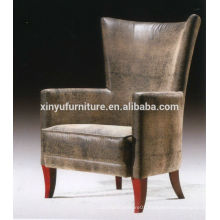 Vintage leather wooden arm sofa chair for hotel furniture XY2638