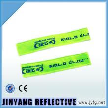 China LED pvc reflectantes bofetada envoltura elástica brazalete reflectante