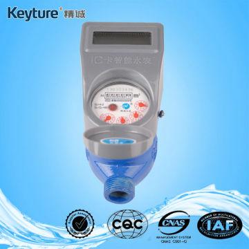 Medidor de água inteligente de cartão IC com corpo de ferro