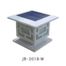 Pierre peindre clôture solaire cap conduit lampes, chapeau de poteau de barrière lumineuse solaire led, solaire clôture post conduit