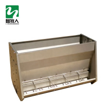 Stainless steel double side pig feeding tough system