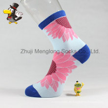 Calcetines populares de la manera de la mujer Sunflower Patter Lady Cotton Socks