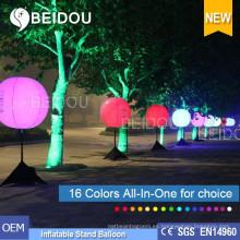 Venta al por mayor de PVC LED Globos Iluminación Publicidad inflable Tripod Stand Globo