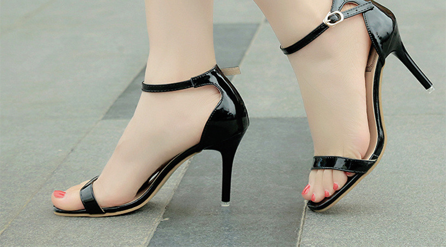 High heel Shoes On feet