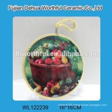 Popular ceramic pot holder with fruit design