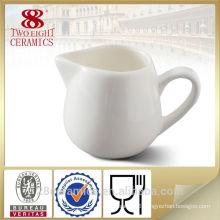 Wholesale plain white porcelain milk jug, lovely creamer bowl