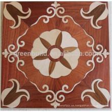 Los mejores precios del juego de dormitorio de caoba ingeniería de parquet de madera dura pisos de madera