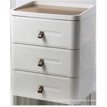 Armário de madeira com 3 gavetas para uso doméstico