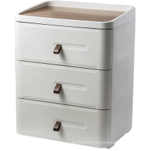 Gabinete de madera con 3 cajones para uso doméstico