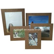 4 x6 marrom textured padrão papel moldura