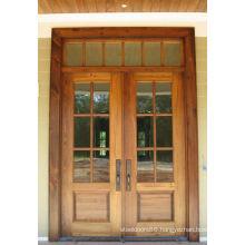 Russtic Double Glass Entry Wooden Doors, Entry Wooden Doors