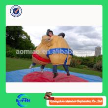 Luvas de sumo de luta inflável com tapetes para adultos
