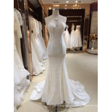 Halter Mermaid See Through Wedding Dress