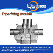High quality good price plastic mould factory for standard size collapsible pipe fitting mould in taizhou China