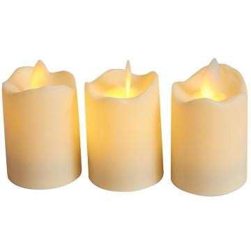 Flameless led candle plastic electric led candle