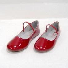 Sapatas de dança quentes da venda das sapatas de bailado quentes da forma das crianças vermelhas