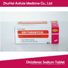 Tablette d'érythromycine